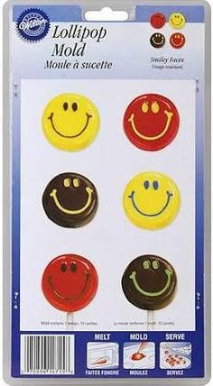 Smiley Face Lollipop Candy Mold - Party Depot