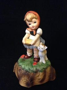 Hummel Music Box Girl with Kitten Collectible Music Box Vintage Musical Figurine 1970's Hand Painted Mother's Day Gift Grandmother Gift by ThePokeyPoodle on Etsy
