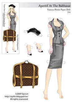 The Making of Paper Dolls: FDQ Vanessa Paper doll(2009 version) for free download.
