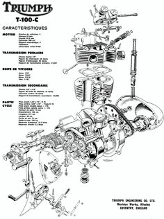 triumph bonneville engine exploded view mechanism pinterest rh pinterest com 1990 Triumph 900 Engine Diagram triumph bonneville t140 engine diagram