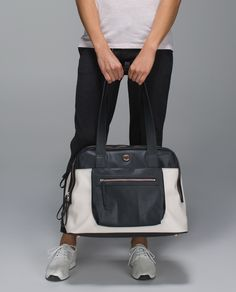 We designed this structured bag to take us from work to workout. Separated wet/dry pockets keep our laptop and gym essentials in their places and an easy-access slip pocket for our phone lets us make post-sweat plans on the fly.