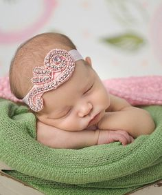 Love this Silver & Pink Beaded Headband by Nest Of Many Colors on #zulily! #zulilyfinds
