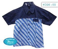 Batik Shortsleeved Shirt for kids Kode E712 Lebar  42cm Panjang