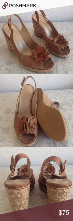 """Stuart Weitzman suede wedges About 4"""" heels. Nothing wrong. Suede. Light brown. No trade!!! Stuart Weitzman Shoes Wedges"""
