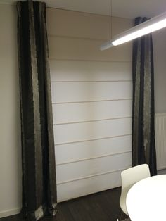 vouwgordijnen 4,20 meter breed. #interieur #gordijn #decor www ...