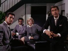 Barbara Bain, Martin Landau, Peter Lupus, and Greg Morris in Mission: Impossible (1966 Television Tv, Vintage Television, Mission Impossible Tv Series, Framed Tv, Tv Land, Old Tv Shows, Tv Episodes, Vintage Tv, Classic Tv