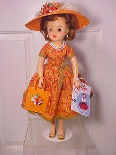 "Vintage 1950s 18"" Miss Revlon Doll in Custom Costume VT-18 by Ideal"
