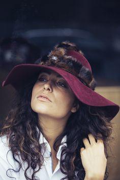 URBAN WARRIOR haarvilt hoed met nep bont harnas accessoire #urban #rebel