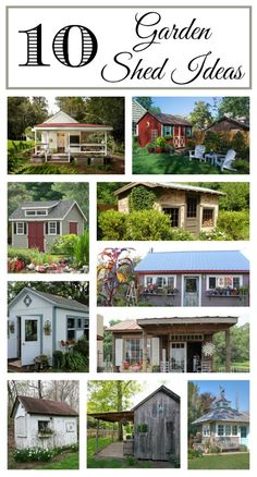 10 Garden Shed Ideas. After the greenhouse, this is next on my list