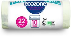 Ecozone Eco Compostable Caddy Liners - 10L - Pack of 22 - Ecozone