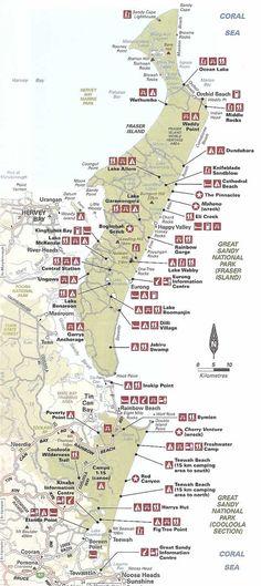Campground Map Fraser Island