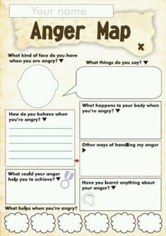 Anger Management Worksheet For Children - Free Anger And Feelings Worksheets For Kids Therapy Worksheets Anger Worksheets For Kids And Teens How Anger Feels Anger Management Worksheet Anger Ma. Counseling Activities, Anger Management Activities For Kids, Anger Management Worksheets, Group Counseling, Classroom Management, Social Work Activities, Play Therapy Activities, Coping Skills Activities, Counseling Worksheets