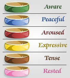 Mood rings come in a simple or an intricate design. However, the metal work of the mood ring is just for the ornamental purpose that. Mood Ring Color Chart, Mood Ring Color Meanings, Mood Ring Colors, Mood Rings, Oras, Mood Boards, Metal Working, Jewlery, Meant To Be