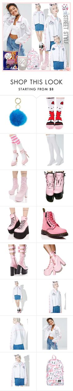 """""""Aristocats Street Style Trend"""" by yours-styling-best-friend ❤ liked on Polyvore featuring Iphoria, Stance, Leg Avenue, Public Desire, Y.R.U., Demonia, Dr. Martens, Current Mood, Lazy Oaf and Disney"""