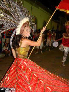 Maira porta bandeira da UCA (União Consumidora de Álcool) - Escola de samba de Prados.  (Maira door banner of UCA (Union Consuming Alcohol) - Prados School of Samba.)