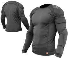 The Armortec Long Sleeve Shirt with was built with athletes in mind. This protective top is made of durable athletic spandex with an array of mesh vents located along the sides, underarms and even on the back. Tactical Suit, Tactical Armor, Armor Clothing, Tactical Clothing, Suit Of Armor, Body Armor, Combat Gear, Military Gear, Mens Clothing Styles