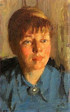 bofransson: Bernard Dunstan Portrait of a Woman in Blue