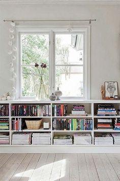 Excellent Bookshelves DIY Unique Cheap Bookshelves Bringing a Touch of the Orient to Cheap Bookshelves, White Bookshelves, Decorating Bookshelves, Bookshelf Design, Bookshelf Ideas, Bookshelf Styling, Apartments Decorating, Apartment Bookshelves, Office Bookshelves