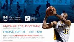 NBA Legend Antonio Davis to Join NBA Campus Tour Fri Sep 9 at U of M   NBA Canada has announced their NBA Campus Tour presented by the Air Miles Reward Program will be in Winnipeg on Friday September 9 at the University of Manitoba Campus. They invite you to 'Shoot Some Hoops' at the University of Manitoba (in front of the Fitzgerald / Pharmacy building) on Friday September 9 from 11:00 am - 5:00 pm. Meet NBA Legend Antonio Davis from 4:00 - 5:00 pm and get a glimpse of the Larry OBrien…