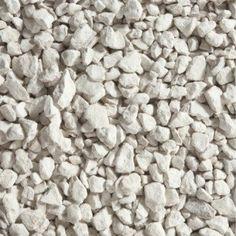 Graviers pierre naturelle blanc Calcaire 6/16mm, 25 kg