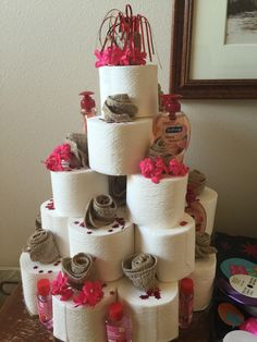 Another Toilet Paper Birthday cake design :)