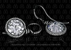 Custom made diamond earrings
