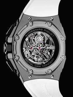 Royal Oak Concept Tourbillon Chronograph Openworked Selfwinding - 26587TI.OO.D010CA.01 Tourbillon, Royal Oak, Audemars Piguet, Chronograph, Concept, Watches, Accessories, Collection, Wrist Watches