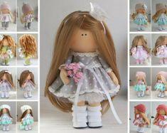 Muñeca de trapo de Tixtile muñeca Tilda por AnnKirillartPlace