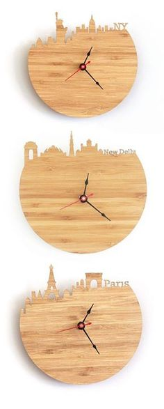 34 Wooden Wall Clocks To Warm Up Your Interior via Interior Design Ideas http://bit.ly/2fBqiW7