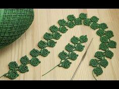 (1) Ленточное кружево - веточка листиков - вязание крючком Crochet Simple Lace - YouTube