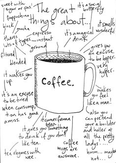 "I love coffee also ""Tea rhymes with wee"" hahaha Coffee Talk, Coffee Is Life, I Love Coffee, Coffee Break, My Coffee, Morning Coffee, Coffee Shop, Coffee Cups, About Coffee"
