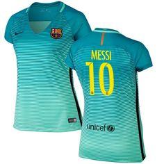 Lionel Messi Barcelona adidas Women's 2016/17 Third Replica Jersey - Green Lionel Messi Barcelona, Neymar, Barcelona Jerseys, Georgia Bulldogs, Football Jerseys, Adidas Women, Iphone, Sweatshirts, Saints
