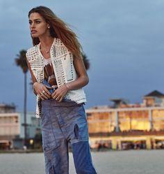 #PANDORAloves model Abby Brothers' cool, edgy boho-chic style. #PANDORAstyle