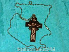 tonimoreno2014: Colgante de cruz, calavera y llamas de fuego!!!