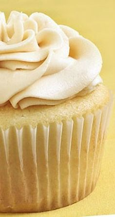 Vanilla Almond Cupcakes with Caramel Butter-cream Frosting | gimmesomeoven.com
