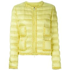 Moncler 'Lissy' padded jacket (4,580 CNY) ❤ liked on Polyvore featuring outerwear, jackets, padded jacket, zip front jacket, quilted jacket, moncler and beige jacket