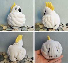 Cockatoo needle felted wool soft sculpture / child от roommate