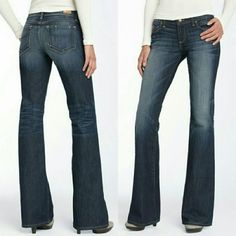 Paige Premium Denim Laurel Canyon Bootcut Jeans Subtle fading details stretch denim in a flattering, boot-cut style while signature stitching brands the back pockets. Zip fly with button closure, five-pocket style with hidden credit card pocket inside one back pocket.  Condition: New with tags. 98% cotton, 2% spandex. NO TRADES! Paige Jeans Jeans Boot Cut