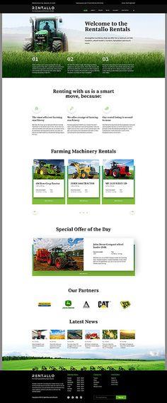 Farming Equipment & Machinery Rentals #Joomla #template. #themes #business #responsive #Joomlathemes