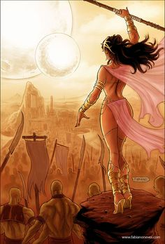 Dejah Thoris 35 Cover art Photoshop colors by me over pencils, inks and Copic Marker . Dynamite Entertainment Facebook Page