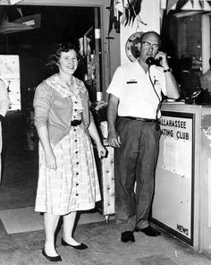 Bill and Ruth Bellflower at their store - Tallahassee, Florida