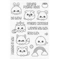 Clearly Besotted BE LUCKY Clear Stamp Set  Preview Image