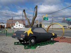 Metal-clad slingshot Pinto in Youngstown, Ohio