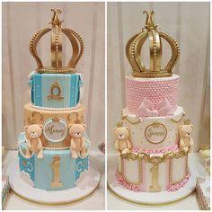 Cakes Tortas Baby Shower Niña, Baby Shower Cakes, Baby Shower Parties, Baby Boy Shower, Baby Birthday Cakes, Girl Birthday, Prince Cake, Bolo Minnie, Carousel Cake