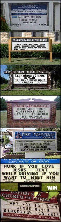 Interesing church signs :)