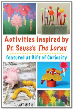 Activities inspired by The Lorax - perfect for celebrating Earth Day, Dr. Seuss style! #handsonlearning || Gift of Curiosity