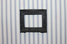 DOLLHOUSE+MINIATURE+Picture+Frame+Black+by+MiteyMinis+on+Etsy,+$3.00 Hand Cast, Dollhouse Miniatures, Picture Frames, Pictures, Handmade, Etsy, Painting, Black, Portrait Frames