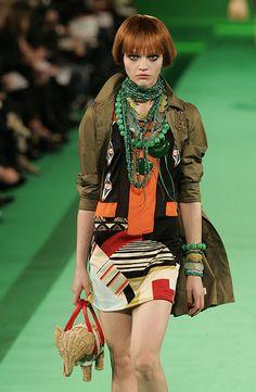 Christian Lacroix - Spring 2007 patchwork dress