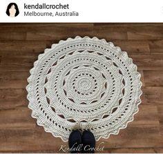 Instagram @kendallcrochet ~ crochet throw rug ~ pic only
