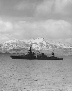 Louisville steamed out of Kulak Bay, Adak, Aleutian Islands, bound for operations against Attu, 25 Apr 1943.